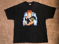 Vintage 2001 Reba Mcentire Tour Tshirt Men's Size 2XL XXL Black Faded VTG