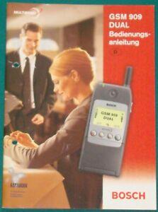 Bedienungsanleitung BOSCH GSM 909 DUAL Handy Mobiltelefon