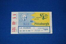 1965 USC TROJANS vs. PITTSBURGH - NOVEMBER 13, 1965 - FOOTBALL TICKET STUB