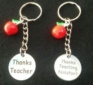 Thanks Teacher/teaching assistant key ring Free giftbag Suitable for Male/female