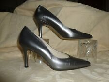CARVELA SILVER LEATHER HEELS /PUMPS/ COURTS  UK 5 MADE IN ITALY