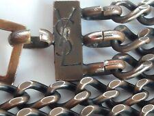 Yves Saint Laurent ceinture vintage chaîne métal