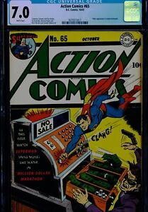 ACTION COMICS #65 - CGC-7.0 - WP - Superman