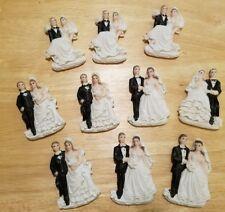 Set of 10 Bride and Groom Wedding Couple Resin Figurine Magnets