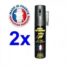 Spray Bombe lacrymogène Bombe Anti agression Bombe Defense CS Gaz 25 ML pack 2
