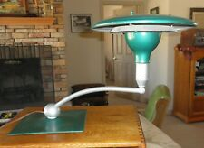 M.G Wheeler UFO SIGHTLIGHT Art Deco Flying Saucer Green Desk Lamp Swivels