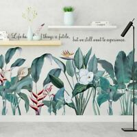 Green Tropical Leaves Branch Wall Sticker Nursery Baby Decal Decor Kids Art DIY