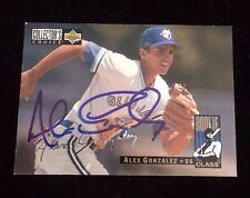 ALEX GONZALEZ 1993 UPPER DECK ROOKIE Autographed Signed AUTO Baseball Card 8 JAY