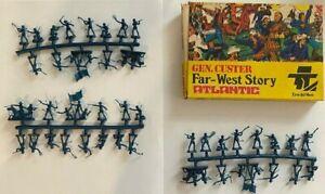 Vintage 1970s Atlantic HO Scale Figures Far West 1111 Gen Custer Original