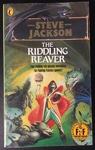 THE RIDDLING REAVER Fighting Fantasy 1986 Paul Mason Gold Dragon VG+