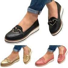 Womens Flat Platform Ladies Bling Zip Pumps Slip On Sneakers Casual Shoes Size