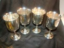 Vintage Oneida Silver Plate Goblets~6 Inches Tall~Lot of 4~
