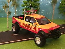 1/64 custom lifted 2016 FORD, F150 CB Antennas dual mufflers large pulling tires