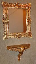 Miroir mural + Console SET Baroque antique OR 44x38 cm de sale bain 1