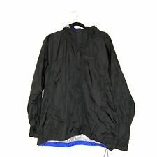 Marmot Men's Precip Windbreaker rain jacket black blue full zip size Large L