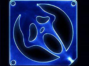 Mutant Mods Acrylic Blue LED-80mm Fan Guard-Scary Ghost
