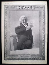 DEWAR'S / DEWAR SCOTCH WHISKY CONNOISSEUR GLASS 1pp ANTIQUE MAGAZINE ADVERT 1911