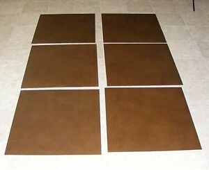 (TSAC7068)Robus Brown Basket Weave Synthetic Leather Floor Tile 2 ft X 2 ft