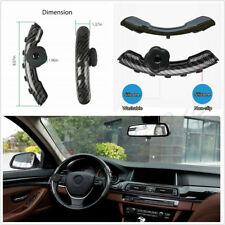 Carbon Fiber Black Silica Autos Steering Wheel Cover Spinner Handle Knob Booster