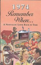 44th Birthday Remember When Book 1974