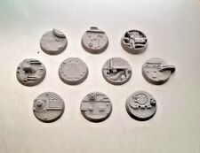 ShipScape 25mm Resin Bases Ten (10) Player Created Technical Space Ship Corridor
