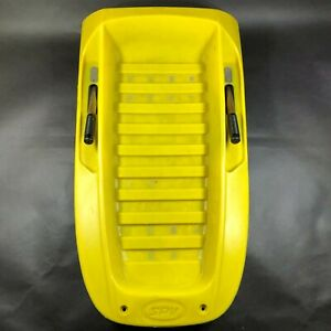 Vintage 1980s SPV Molded Sled with Hand Brakes Yellow Top with Black Bottom
