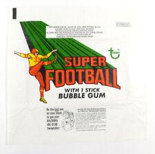 1970 Topps Super Football 10 Cents Wax Wrapper ~ Sweatshirt Variation