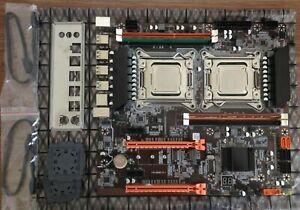 Dual Socket X79 Motherboard With Intel 2x Xeon E5 2665 And 4Gb Ram