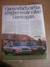 Original 1989 Hyundai Excel GLS Magazine Ad - Guess Again