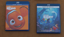 Disney Finding Nemo And Finding Dory Blu-Ray Lot With Slipcovers