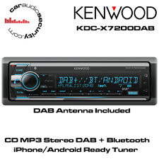 Kenwood KDC-X7200DAB - CD MP3 DAB + Bluetooth AUX, USB, iPhone Android Stereo