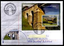 Eisenbahnbrücke über die Rauna, bei Cesis. FDC-Brief. Lettland 2006