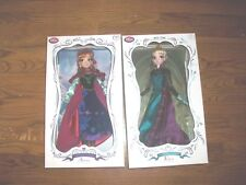 Disney Deluxe 7 DOLLs Elsa and Anna Limited Edition 5000 each