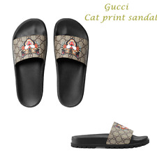 2017 New Fashion men's Gucci Angry Cat GG print Sandal US Size 4.5-8.5 Ship=$0