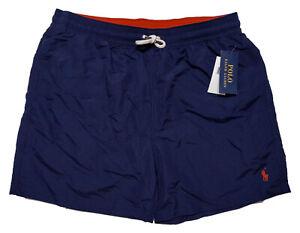 POLO RALPH LAUREN Men's Swim Trunks Shorts Pony Blue Large L ~ New