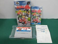 SNES -- RIDERS SPIRITS -- Box, Racing, Super famicom, Japan game, work fully.