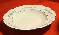 Cmielow ~ Soup Bowl ~Platinum Trim Blue Scrolls ~ Made in Poland