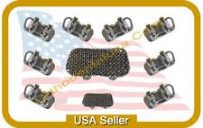 Set x 10 ORTHODONTIC MOLAR BRACKET EDGEWISE SLOT .022''  FOR BONDING