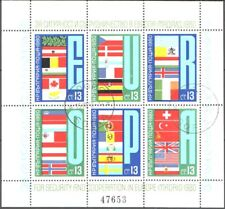 Used S/S For security and cooperation in Europа Madrid Flags 1980 Bulgaria avdpz