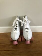 Chicago Roller Skates Kids Size- 2 White with Pink Wheels