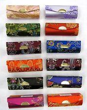 Wholesale 12 PCS Lipstick Holder Mirror Chinese Embroidery Silk Case Makeup Box
