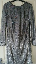 MARKS AND SPENCER LADIES EVENING WEAR DRESS SEQUINNED SIZE 8 UK BRAND NEW £89