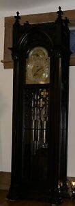 Antique Gothic Herschede / Colonial 9 Tube/Tubular Grandfather Clock, C1910-20