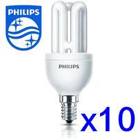 10 x Philips Energy Saving Light Lamp Bulb Small Screw Cap SES E14 8w/40w #2422