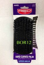 RED BY KISS PROFESSIONAL HARD CURVED PALM BOAR BRISTLE BRUSH BOR12