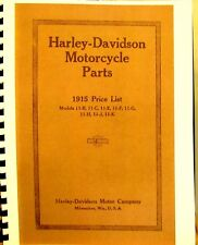 1915 Harley-Davidson Motorcycle Parts Manual For Mdls.11-B,11-C,11-E F, G, J ,K