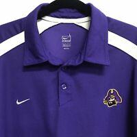 🌴🔥NCAA East Carolina University Men's Polo Shirt Large L Purple🌴Free Shipping