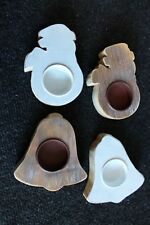Teelichthalter Kerzenhalter Weihnachten  Holz shabby chic  Weihnachtsdeko K7/489