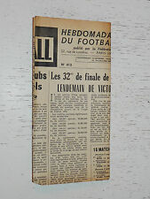 FRANCE FOOTBALL OFFICIEL HEBDOMADAIRE FFF N°410 26/01 1954