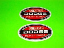 NASCAR DODGE WEEKLY SERIES RACE CAR TRUCK GARAGE MAN CAVE BUMPER STICKERS DECALS